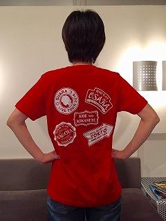 Tシャツ赤裏